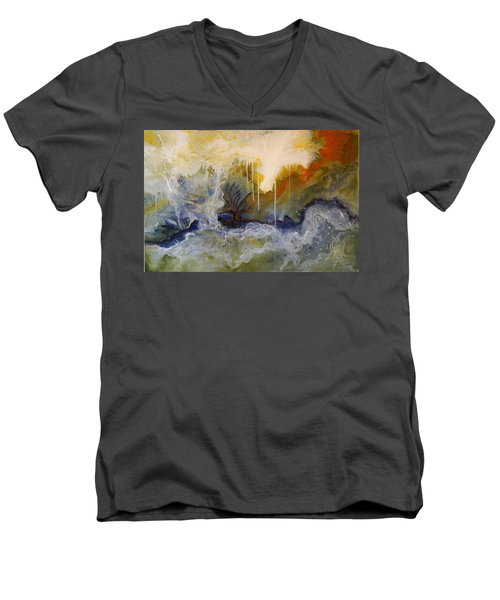 Knowing Men's V-Neck T-Shirt by Theresa Marie Johnson