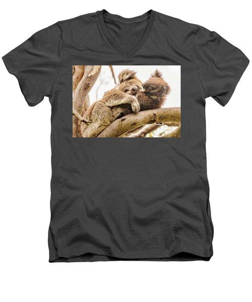 Koala 5 Men's V-Neck T-Shirt by Werner Padarin