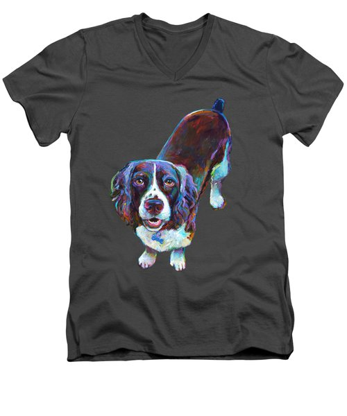 Koda The Spaniel Men's V-Neck T-Shirt