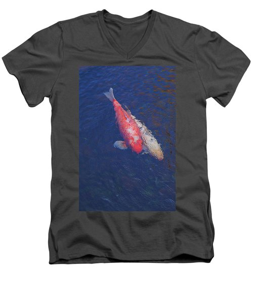 Koi Fish Partners Men's V-Neck T-Shirt