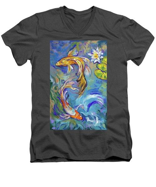 Koi Fish2 Men's V-Neck T-Shirt