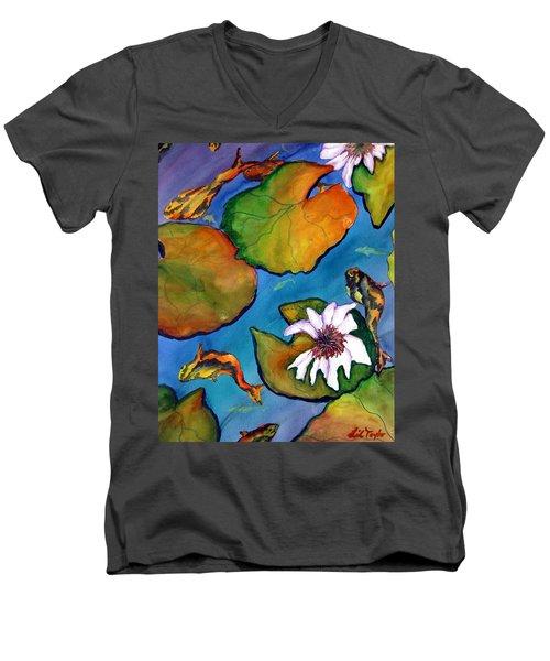 Koi Pond II Sold Men's V-Neck T-Shirt by Lil Taylor