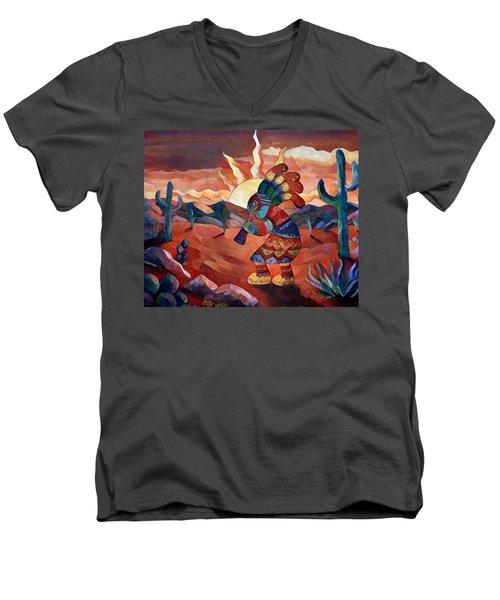 Kokopelli A Men's V-Neck T-Shirt by Megan Walsh