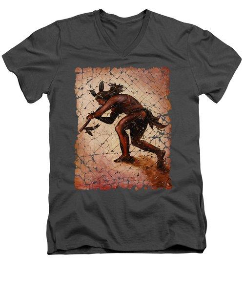 Kokopelli The Flute Player  Men's V-Neck T-Shirt