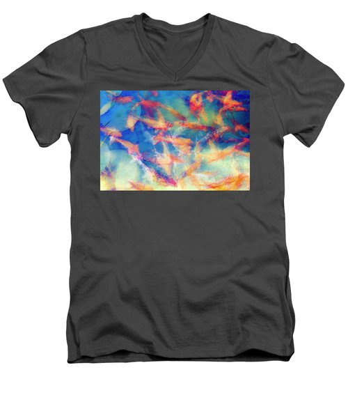 Kolorful Koi Series Men's V-Neck T-Shirt by Joseph S Giacalone
