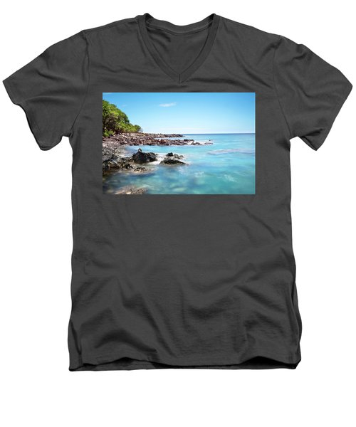 Kona Hawaii Reef Men's V-Neck T-Shirt by Joe Belanger
