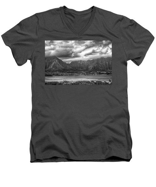Ko'olau And H-3 Men's V-Neck T-Shirt