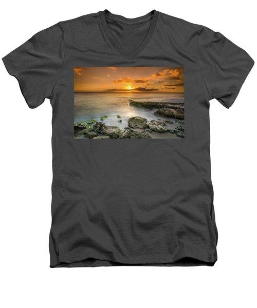 Koolina Sunset At The Cove Men's V-Neck T-Shirt