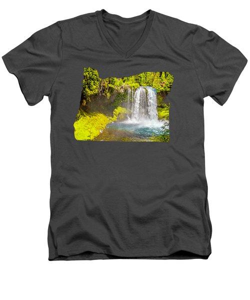 Koosah Falls Men's V-Neck T-Shirt
