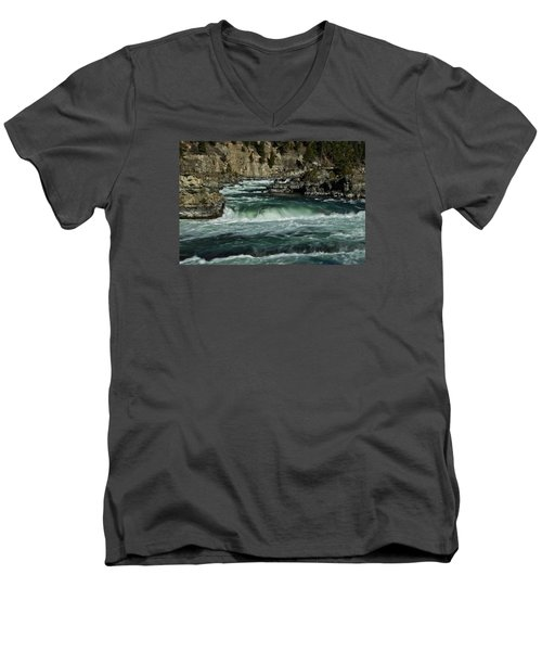 Kootenai Falls, Montana 2 Men's V-Neck T-Shirt