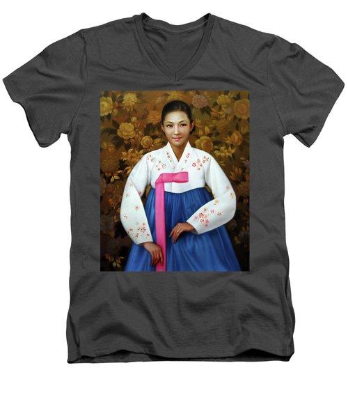 Korea Belle 6 Men's V-Neck T-Shirt