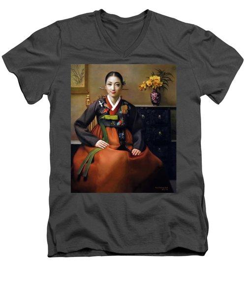 Korea Belle 7 Men's V-Neck T-Shirt