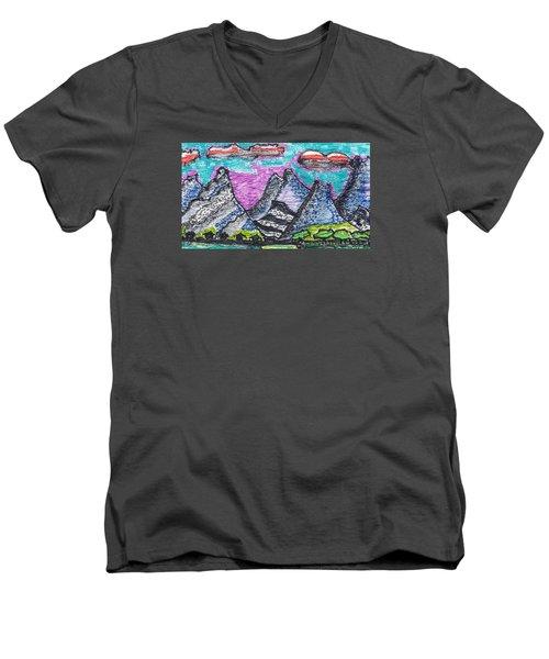 Korean Hills Men's V-Neck T-Shirt