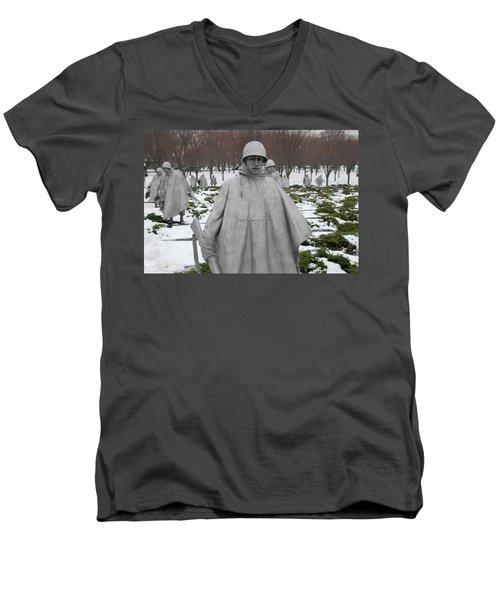 Korean War Memorial Men's V-Neck T-Shirt