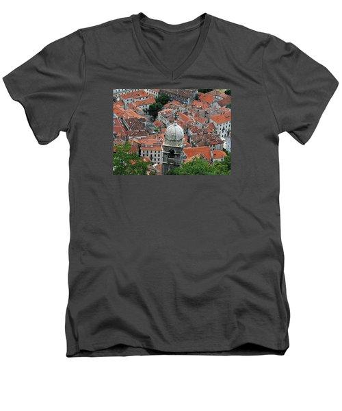 Kotor Rooftops Men's V-Neck T-Shirt