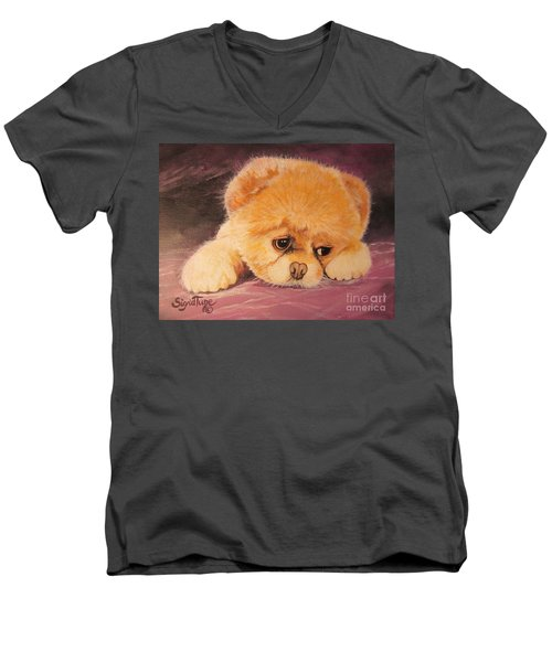 Flying Lamb Productions     Koty The Puppy Men's V-Neck T-Shirt