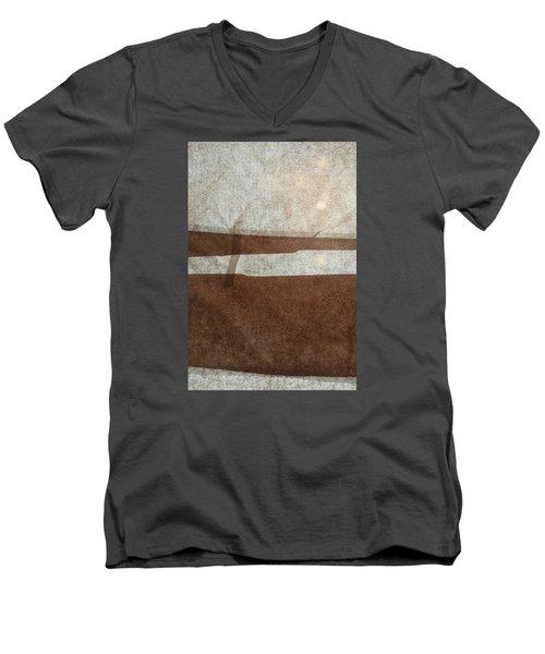 Kraft Paper And Screen Seascape Men's V-Neck T-Shirt