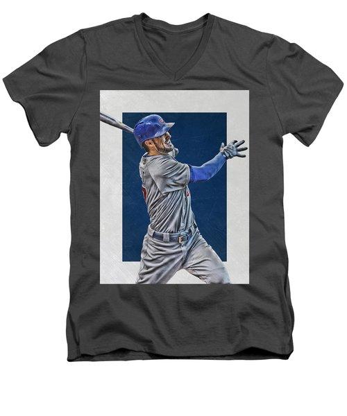 Kris Bryant Chicago Cubs Art 3 Men's V-Neck T-Shirt