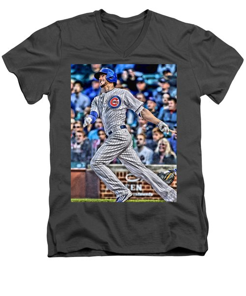 Kris Bryant Chicago Cubs Men's V-Neck T-Shirt