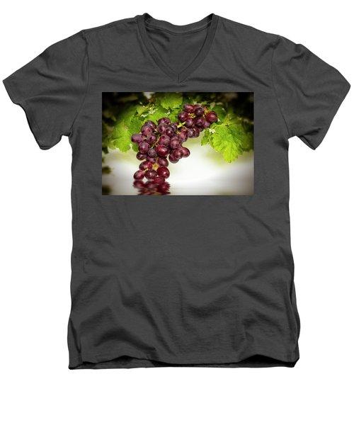 Krissy Gold Grapes Men's V-Neck T-Shirt by David French