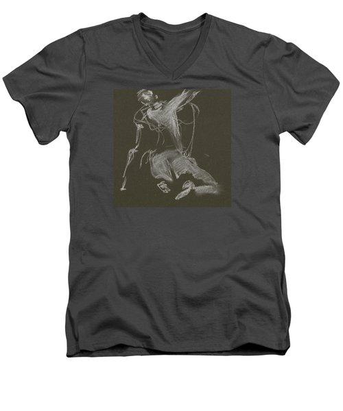 Kroki-2015-04-11-figure-drawing-white-chalk-marica-ohlsson-marica-ohlsson Men's V-Neck T-Shirt
