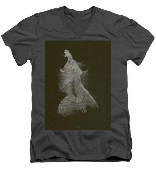 Kroki 2014 10 04_16 Figure Drawing White Chalk Men's V-Neck T-Shirt
