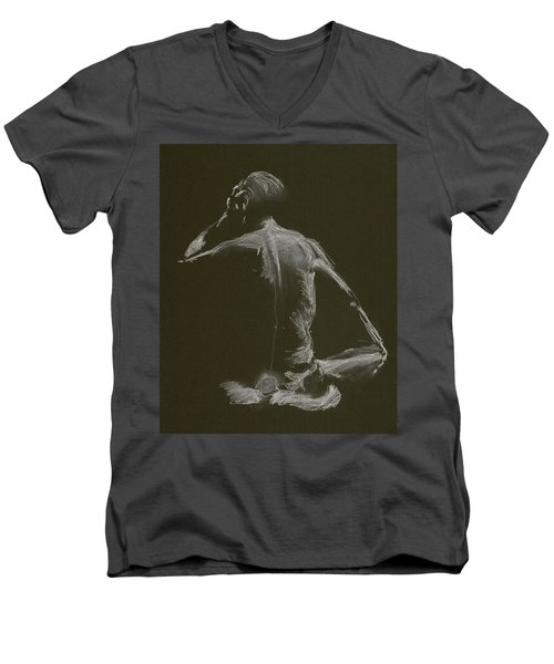 Kroki 2015 01 10_14 Figure Drawing White Chalk Men's V-Neck T-Shirt