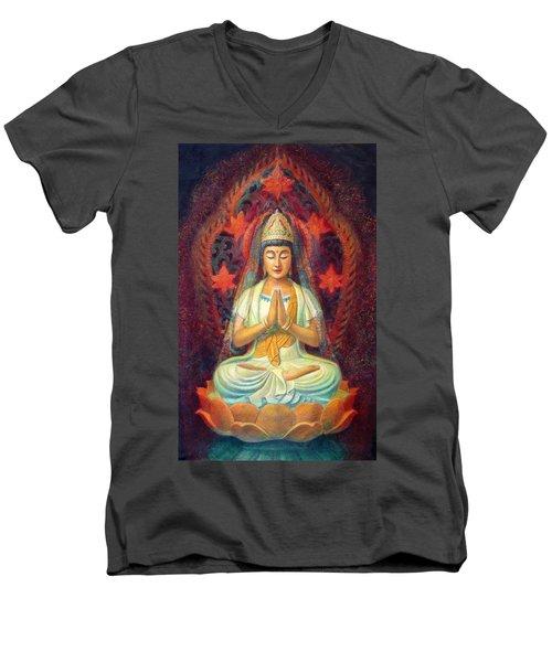 Kuan Yin's Prayer Men's V-Neck T-Shirt