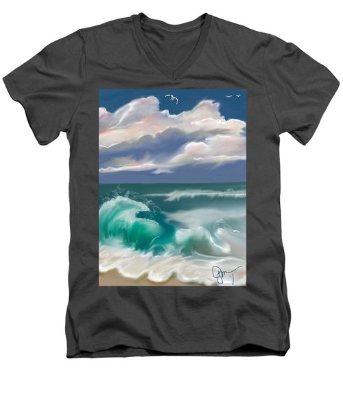 Kure Beach Men's V-Neck T-Shirt