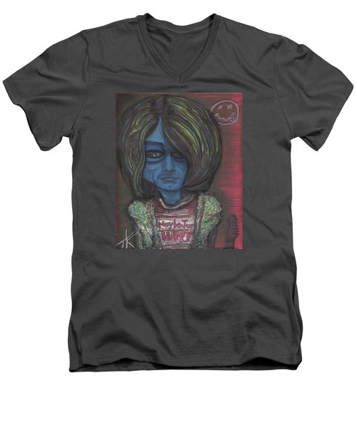Kurt Cobalien Men's V-Neck T-Shirt by Similar Alien