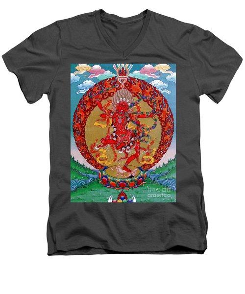 Kurukula Men's V-Neck T-Shirt by Sergey Noskov