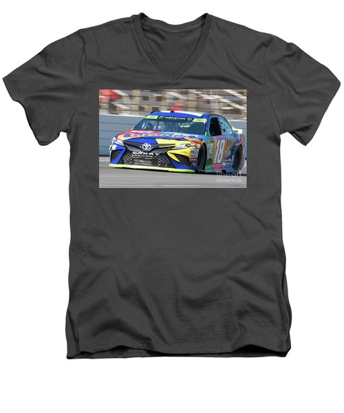 Kyle Busch Coming Out Of Turn 1 Men's V-Neck T-Shirt