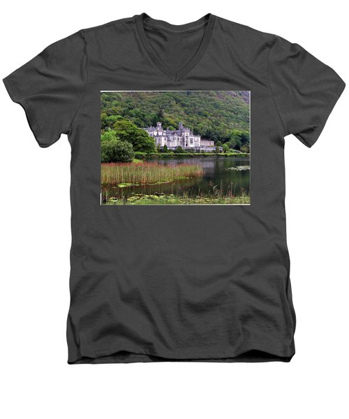 Kylemore Abbey, County Galway, Men's V-Neck T-Shirt