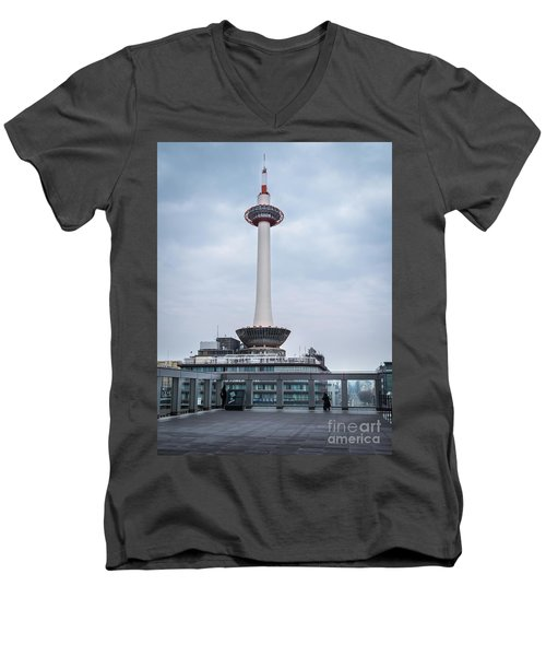 Kyoto Tower, Japan Men's V-Neck T-Shirt