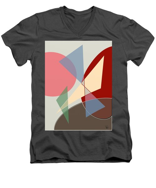 L Men's V-Neck T-Shirt