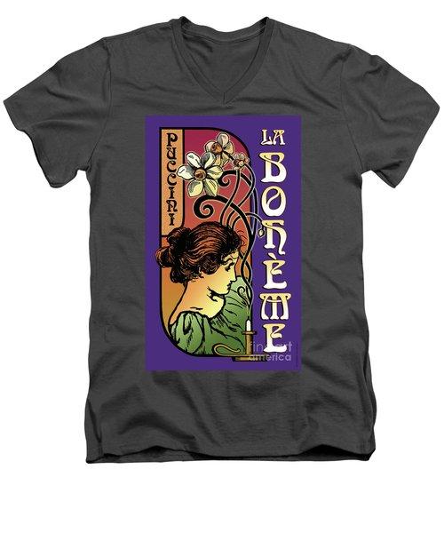 La Boheme Men's V-Neck T-Shirt