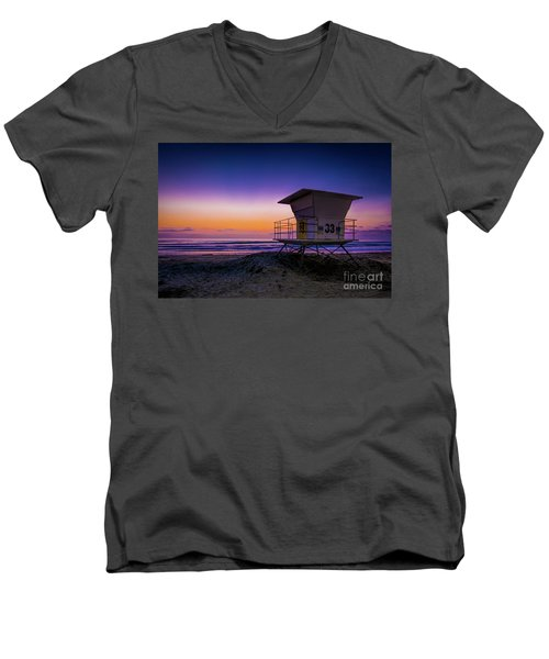 La Jolla Beach Sunset Men's V-Neck T-Shirt