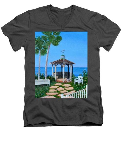 La Jolla Garden Men's V-Neck T-Shirt