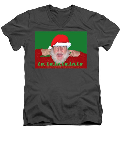 La La La Christmas Men's V-Neck T-Shirt