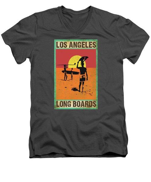 La Long Boards Men's V-Neck T-Shirt