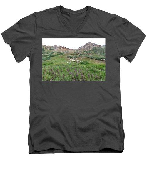 La Plata Peak Men's V-Neck T-Shirt