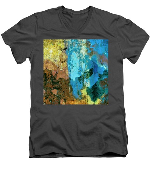 Men's V-Neck T-Shirt featuring the painting La Playa by Dominic Piperata
