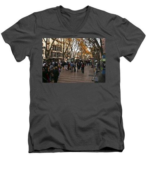 La Rambla II Men's V-Neck T-Shirt