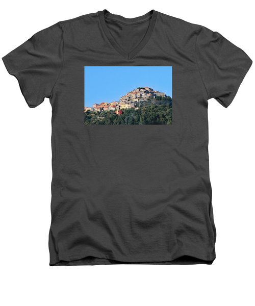 La Spezia Thru The Heart Of Tuscany To Florence Men's V-Neck T-Shirt by Allan Levin