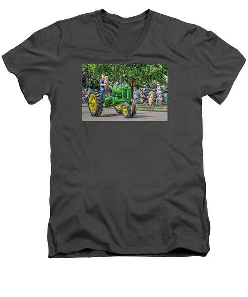 Labor Day And John Deere Men's V-Neck T-Shirt