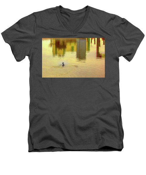 Labyrinthine #d7 Men's V-Neck T-Shirt by Leif Sohlman