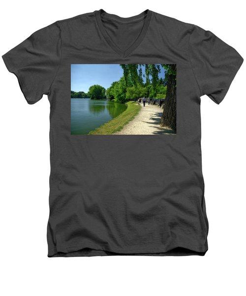 Lac De Genval Men's V-Neck T-Shirt