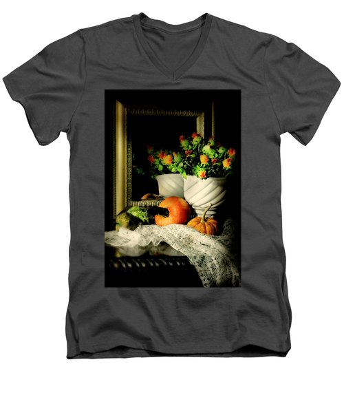 Lace And Mirror Men's V-Neck T-Shirt by Diana Angstadt