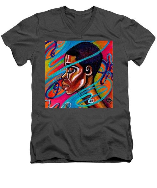 Laced Men's V-Neck T-Shirt