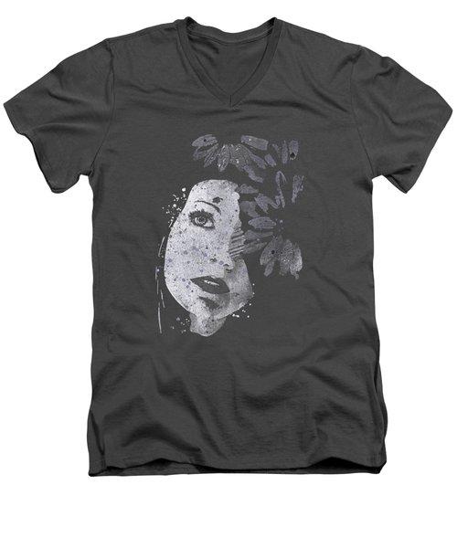 Lack Of Interest - Silver Men's V-Neck T-Shirt